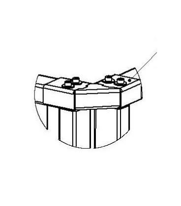 PERCo-RF01 0-04 Накладка верхняя угловая для стыковки секций ограждений