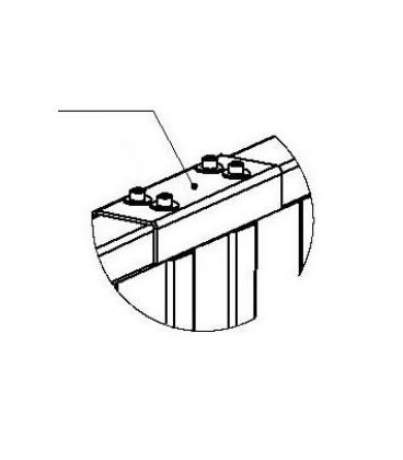 PERCo-RF01 0-05 Накладка верхняя для стыковки секций ограждений