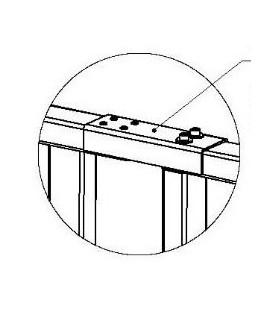 PERCo-RF01 0-06 Накладка верхняя для стыковки доп. секции ограждения