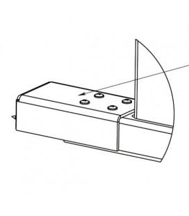 PERCo-RF01 0-07 Накладка нижняя для стыковки доп. секции ограждения