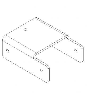 PERCo-MB-16.4 Накладка прямая нижняя (доп. секция - секция)
