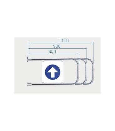 PERCo-AGW-650 Створка длиной 650 мм для стойки калитки PERCo-WMD-05W