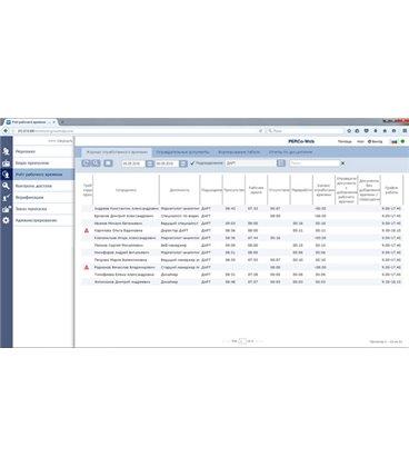 """PERCo-WME01 Модуль встроенного ПО """"Учет рабочего времени"""""""